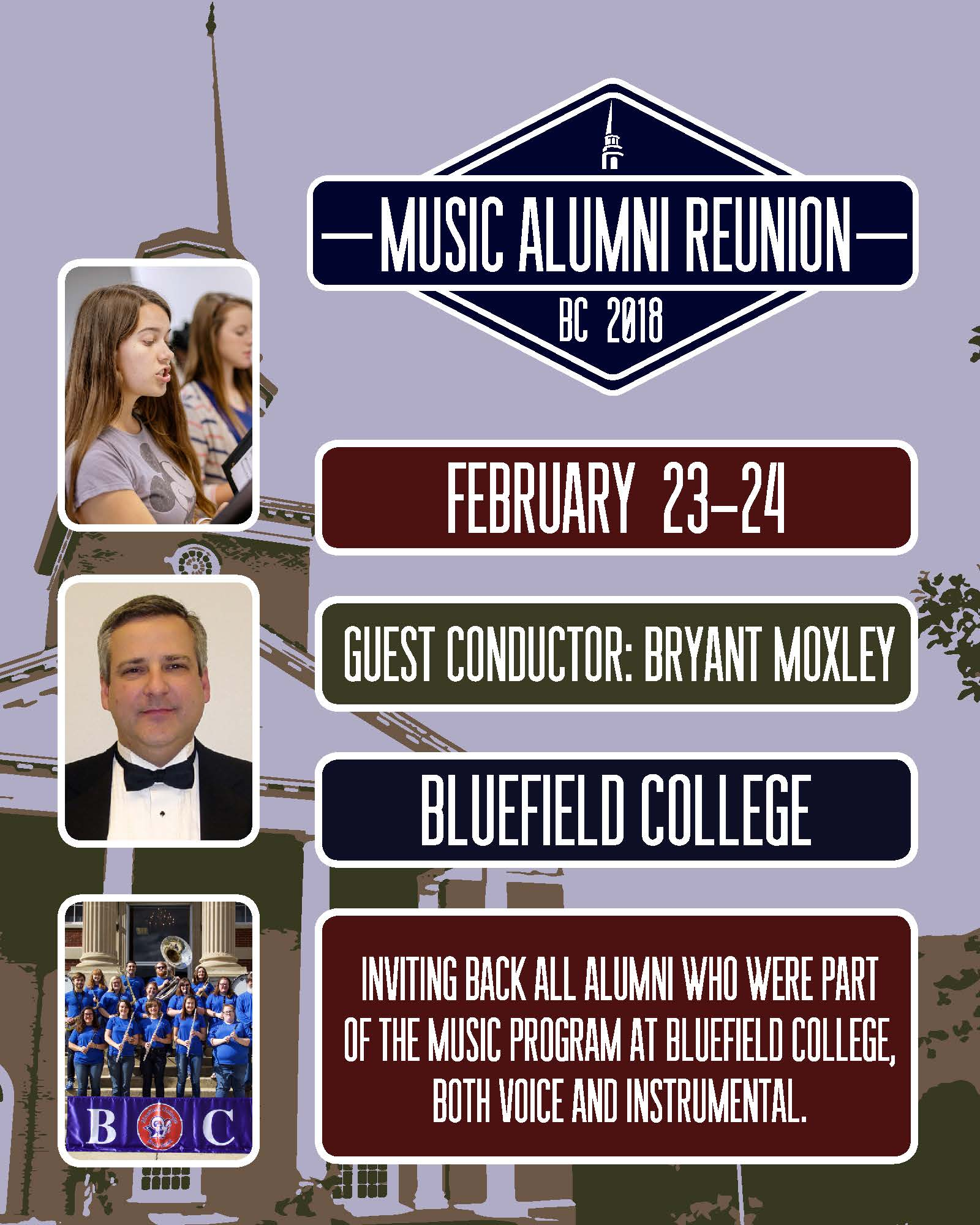 Download Music Alumni Weekend flyer
